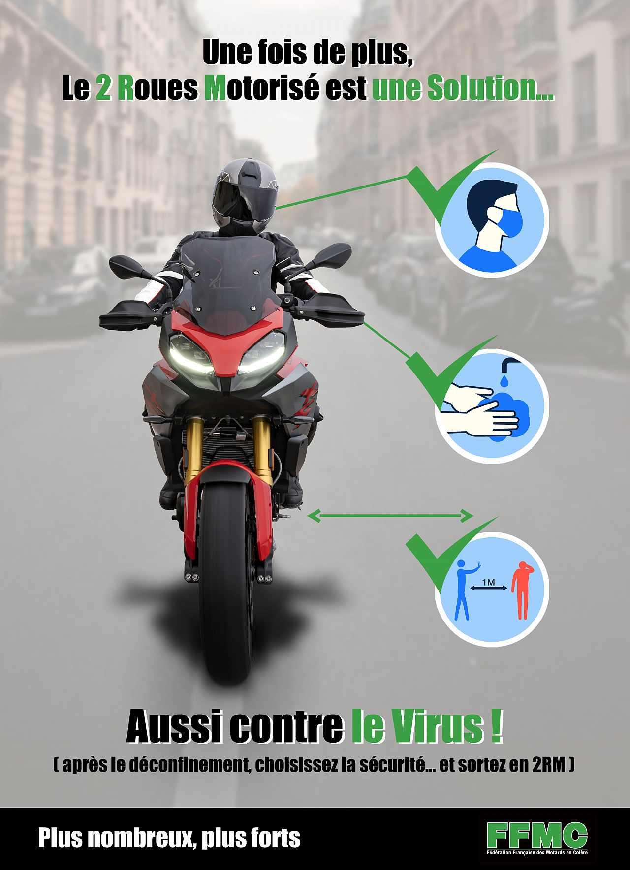 Le 2 roues motorisé, une solution  aussi contre le virus