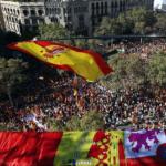 2ç octobre 2017 - Barcelone - Manifestation pour l'unité de l'Espagne