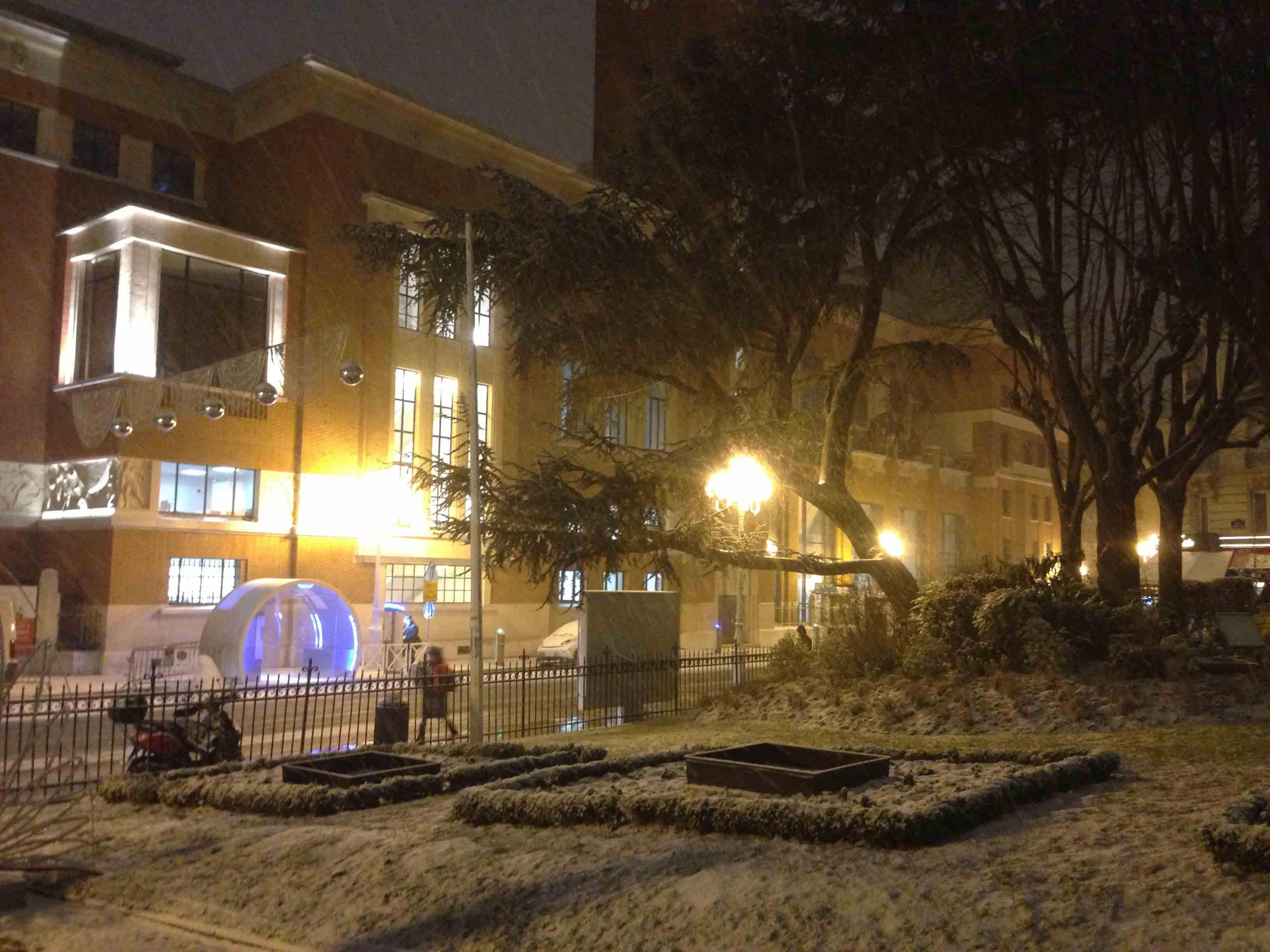 Le Beffroi sous la neige