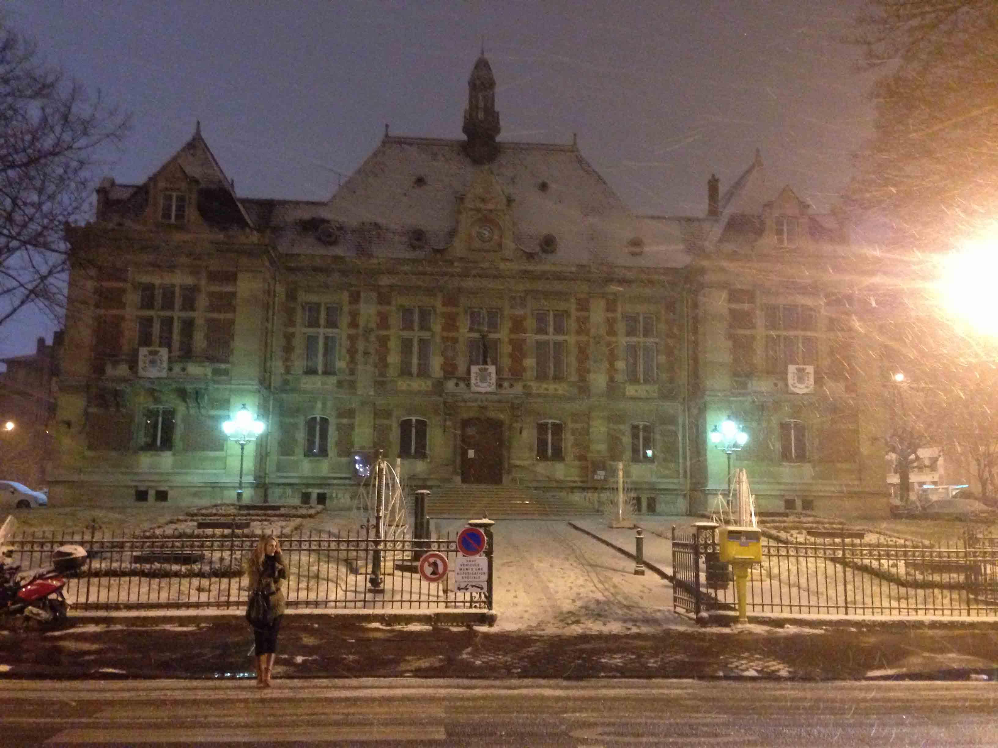 La Mairie sous la neige