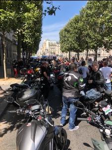 Manifestation de la Fédération des Motards en Colère le 18 juillet à Paris